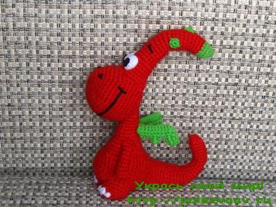 дракончик gogo, игрушки из мультфильмов крючком, дракончик крючком