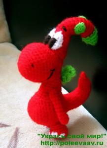 игрушки из мультфильмов крючком, дракончик gogo
