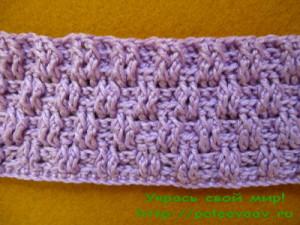 плетёный узор крючком