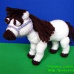 лошадь крючком, лошадь крючком схема, лошадка крючком, лошадка крючком схема
