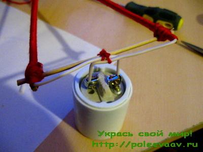 Как сделать люстру из ниток своими руками