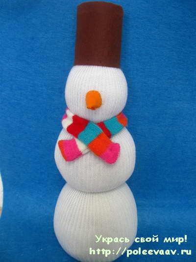 Поделка снеговик своими руками из