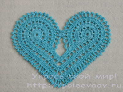 сердце крючком схема - Самое