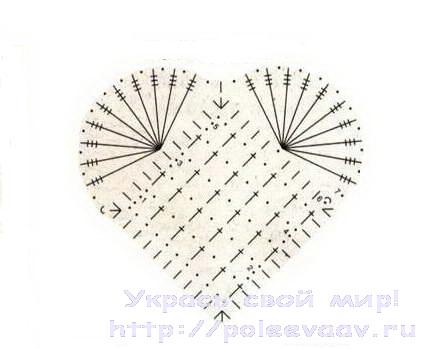 как связать сердечко крючком, сердечко крючком, связать сердечко крючком