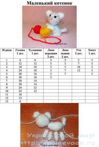 Кошка крючком схема 3