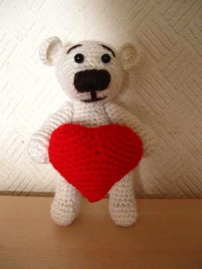 Схема вязаного сердечка