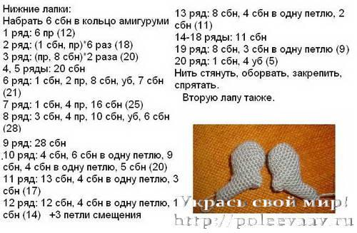 кролик пасхальный мк 06