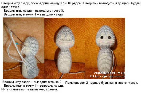 пасхальный кролик, кролик крючком, пасхальный кролик своими руками, сувенир к пасхе