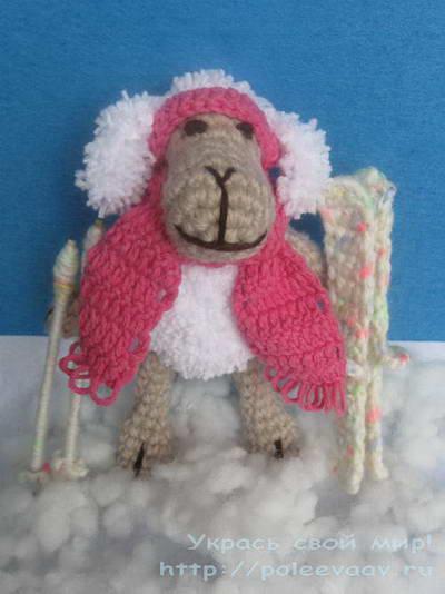 вязаная овечка, вязаная овечка крючком