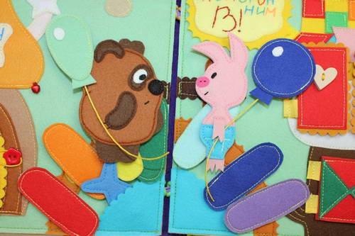 Пятачок из фетра, винни пуз из фетра, выкройки игрушек из фетра