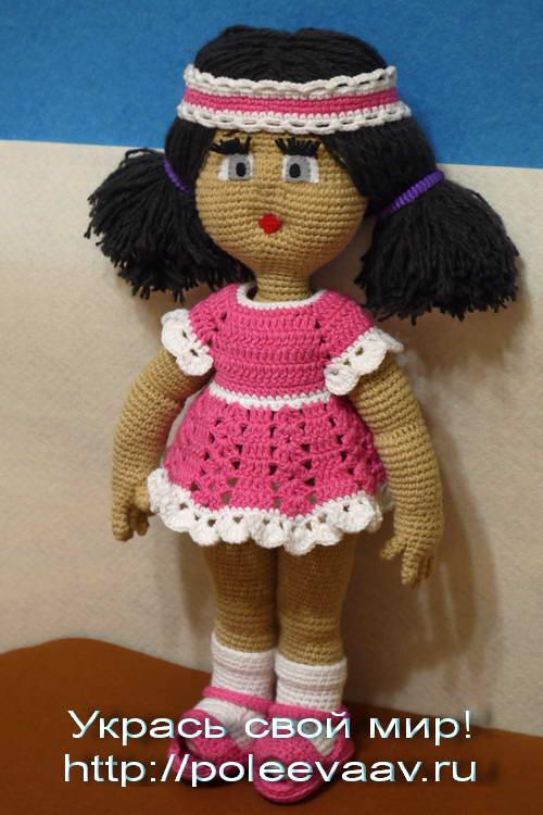 Связана куколка из хлопковых