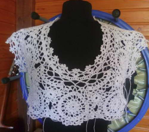 платье крючком, вязаное платье крючком