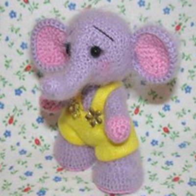 слон крючком Еще одна милая