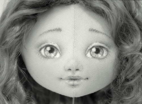 как нарисовать лицо кукле