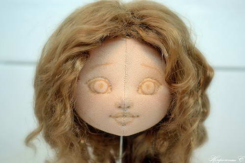 Утяжка лица текстильной куклы подробно мастер класс
