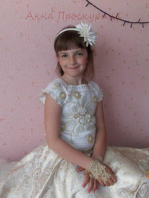 нарядное платье для девочки на выпускной 01