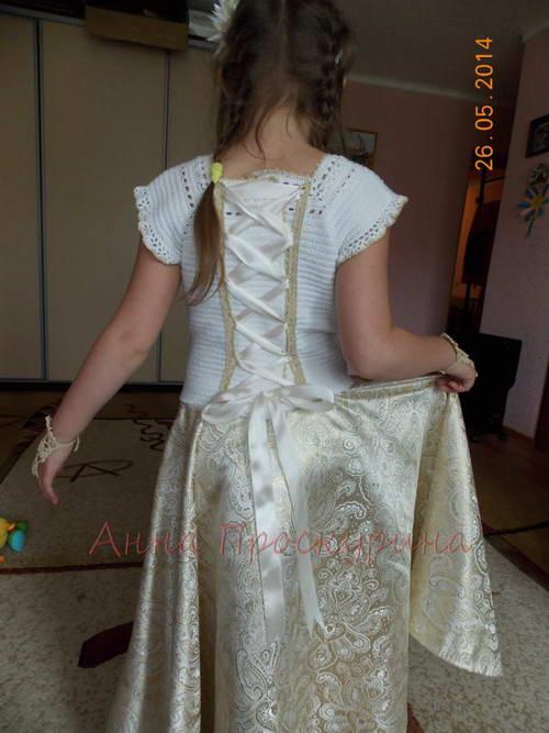 нарядное платье для девочки на выпускной 03