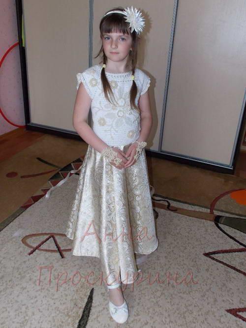 нарядное платье для девочки на выпускной 04