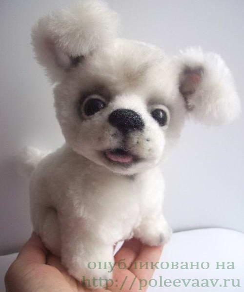 собака своими руками, щенок своими руками, выкройка щенка, выкройка собаки, собака из ткани