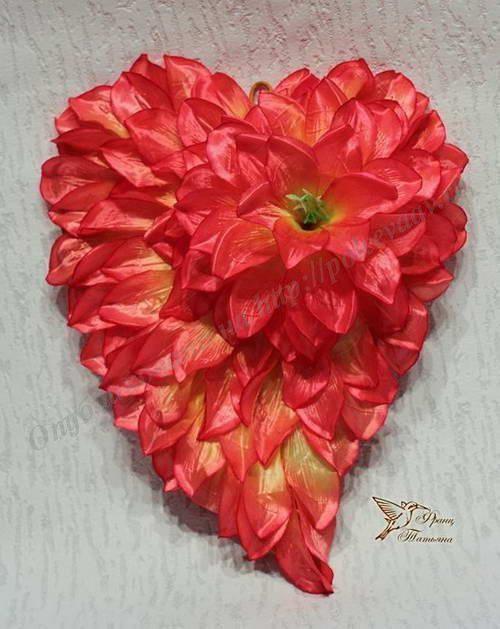 валентинка из цветов 15.min