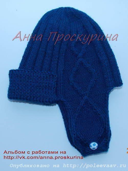 Вязание шапочки мастер класс для мальчика как сделать #3