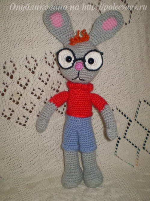 вязаный кролик крючком