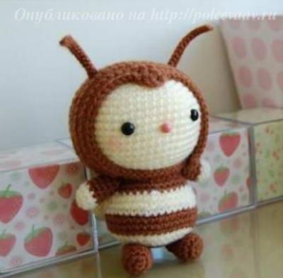 пчелка крючком, пчелка схема
