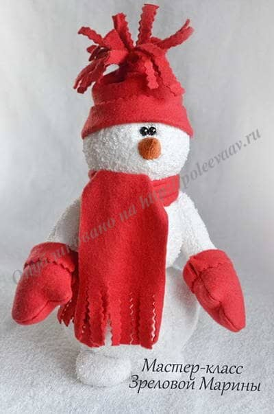 Варежки для снеговика своими руками