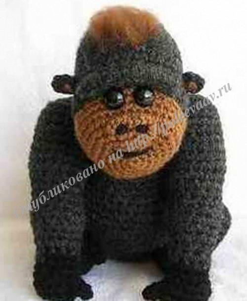 вязаная горилла крючком