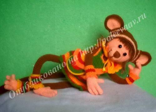 обезьянка крючком своими руками