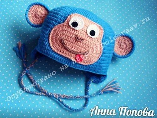 шапка обезьянка