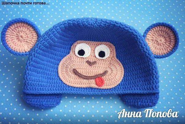 шапка обезьянка крючком 42-min