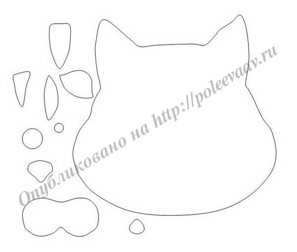 Выкройка маски кошки своими руками
