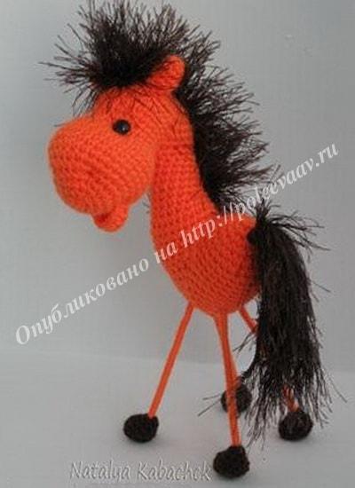 валентинка вязаная конь 25-min