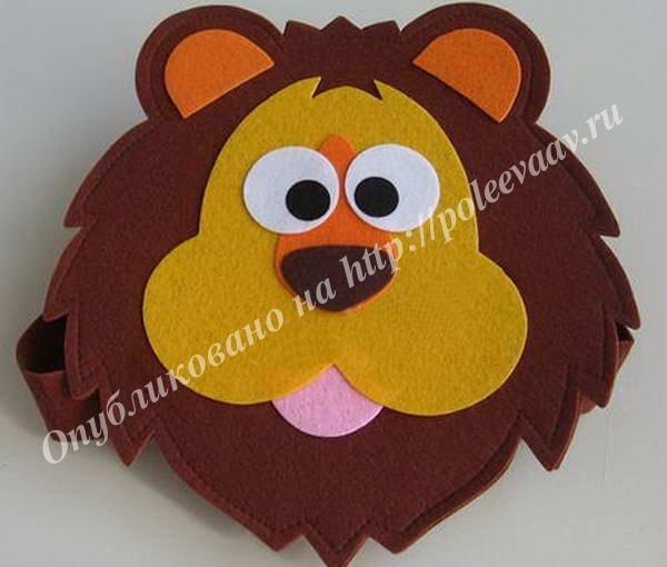 маска лев из фетра выкройка