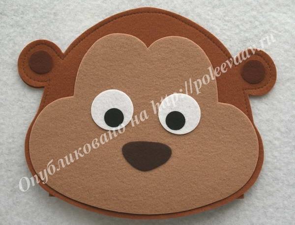 маска обезьяна из фетра выкройка