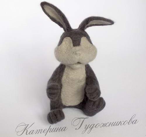 валяние игрушки пасхальный кролик 26-min