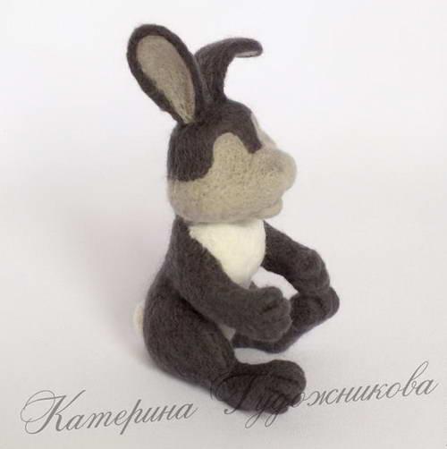 валяние игрушки пасхальный кролик 28-min