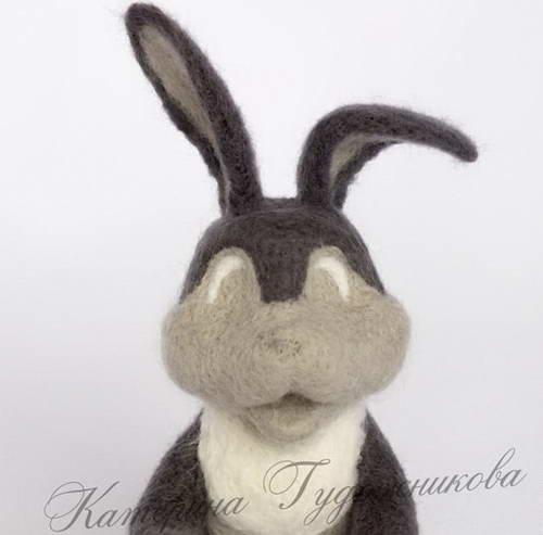валяние игрушки пасхальный кролик 29-min