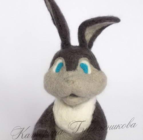 валяние игрушки пасхальный кролик 30-min