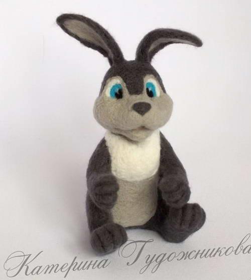 валяние игрушки пасхальный кролик 32-min