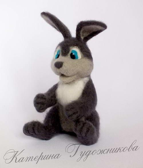 валяние игрушки пасхальный кролик 33-min
