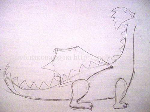 дракон своими руками из шерсти 09-min