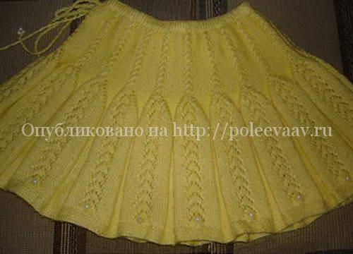 юбка спицами для девочки