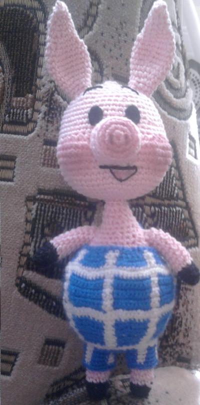 мягкая игрушка пятачок крючком схема вязания укрась свой мир