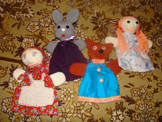 Куклы-рукавички для сказки Колобок