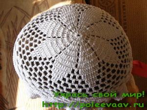 Шляпа для девочки крючком схема фото 720