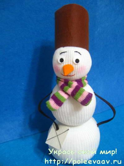 Поделки снеговика своими руками видео фото 576