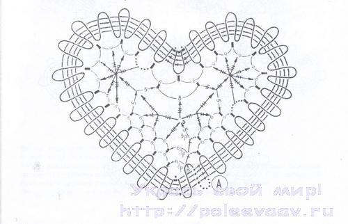 вязаное сердце крючком схема укрась свой мир