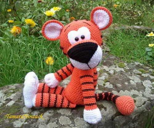 мягкая игрушка тигр схема вязания крючком укрась свой мир